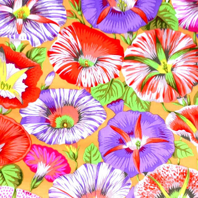 Kaffe Fassett Collective - Variegated Morning Glory Orange