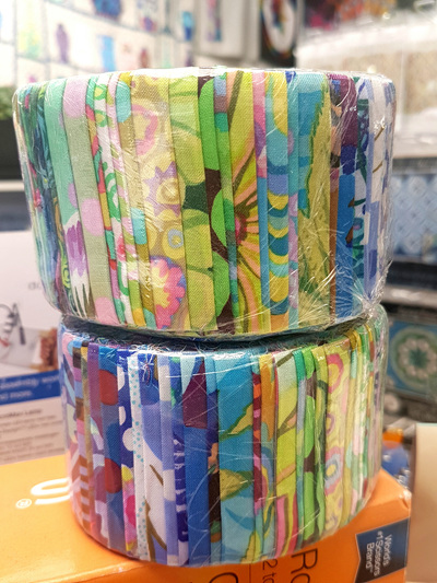 Kaffe Fassett Jelly Roll 1 - Greens and Blues