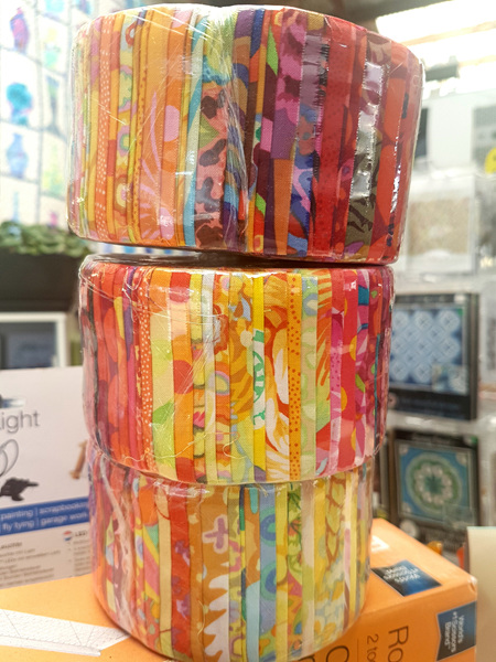 Kaffe Fassett Jelly Roll 2 - Reds and Oranges