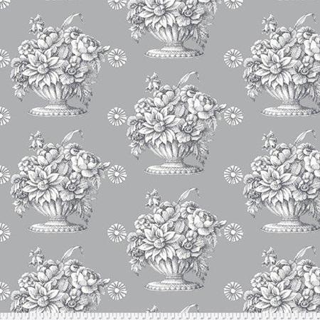 Kaffe Fassett Stone Flower Grey QBGP005.2Grey