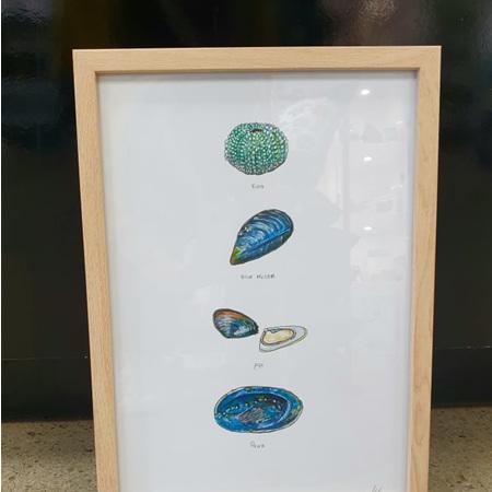 Kaimoana A3 Print Framed