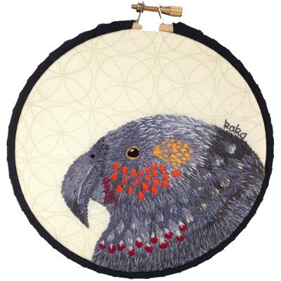 Kaka embroidered hoop