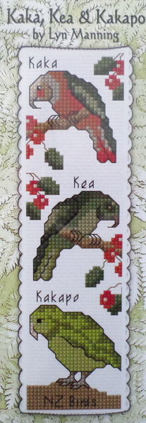 Kaka, Kea & Kakapo Bookmark Stitching Kit