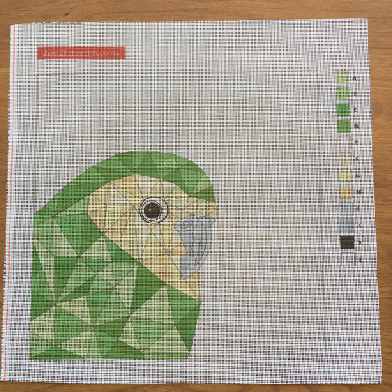 kakapo needlepoint canvas
