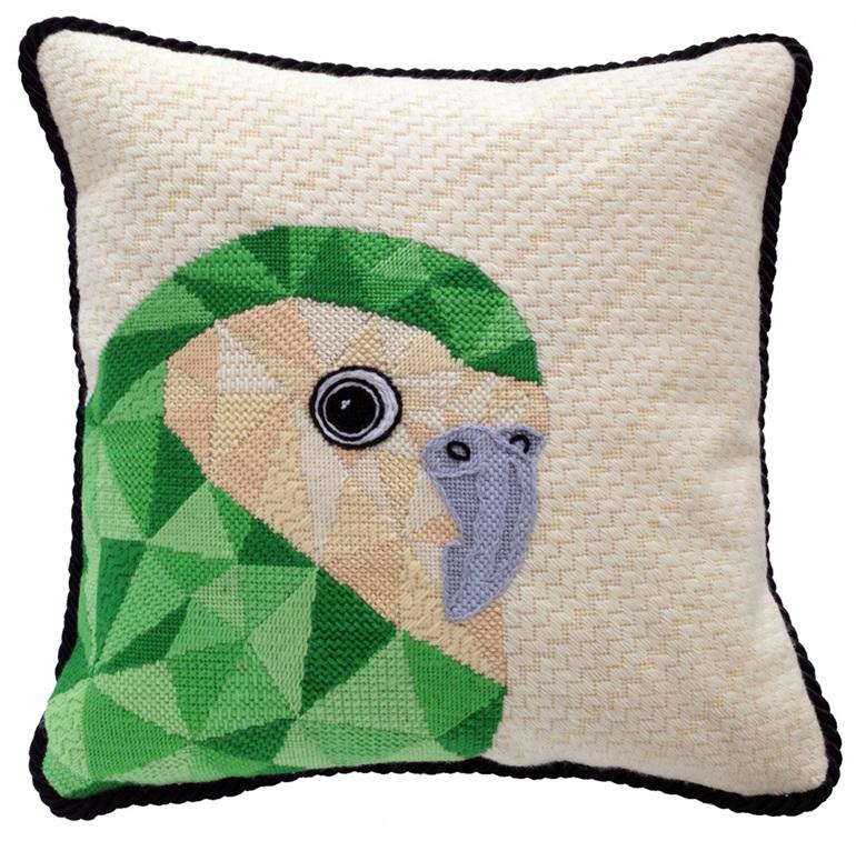 kakapo needlepoint kit nz bird tapestry kit