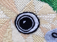 kakapo needlepoint kit nz bird tapestry kit close up
