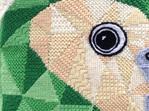 kakapo needlepoint kit nz bird tapestry kit close up