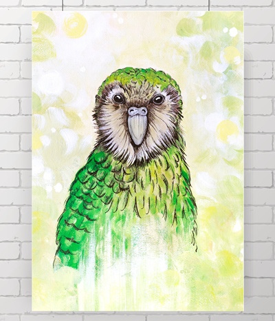 kakapo - the original painting