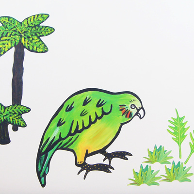 Kakapo wall decal