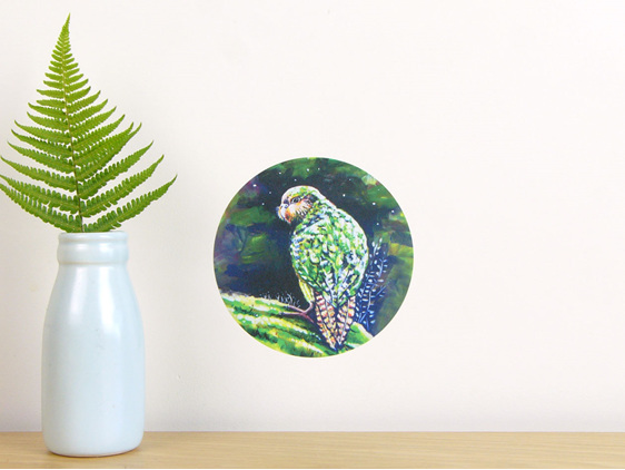 Kakapo wall decal dot