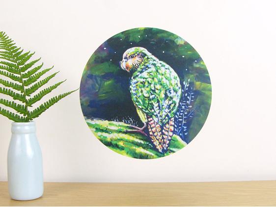 Kakapo wall decal dot