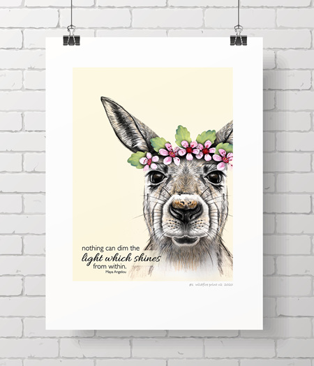 kangaroo limited edition wildfire print - 2 left