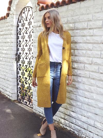 Karli Cardigan / Mustard