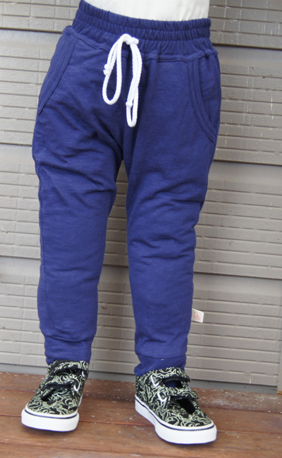 'Kasey' slim-fit joggers, 'Patriot Blue' 100% Cotton Knit, size 3