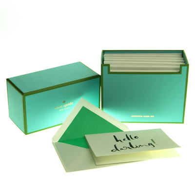 Kate Spade hello darling notecard set