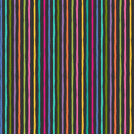 Katie's Cats Chalky Stripe Black TP-2347-5