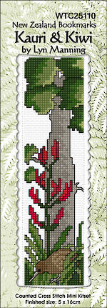 Kauri and Kiwi Bookmark Stitching Kit