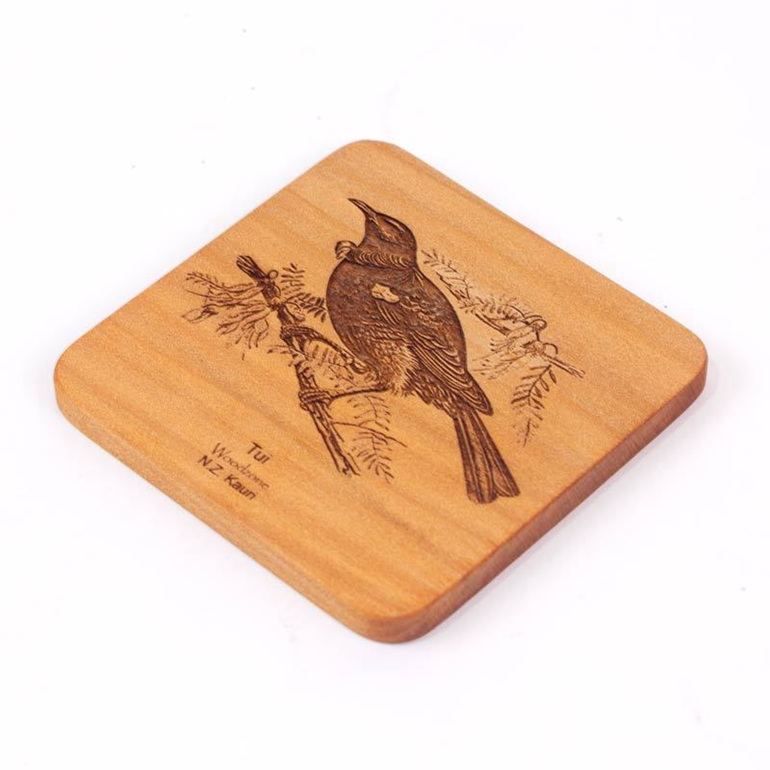 kauri wood pigeon coaster