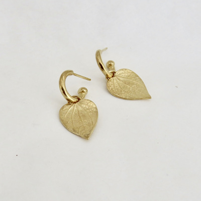 Kawakawa Baby Hoop Earrings - Gold Plate
