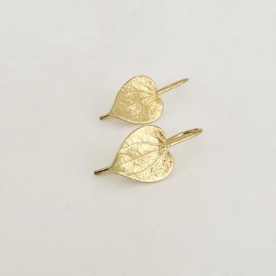 Kawakawa Leaf Earrings - Gold Plate