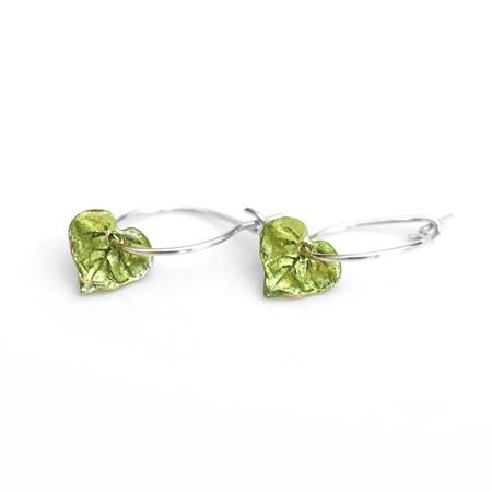 Kawakawa Leaf Hoop Earrings