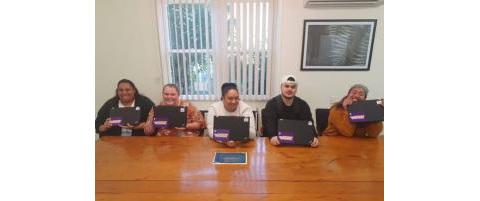 Kawerau Future Leaders with their refurbished laptops refurbished by Remojo Tech