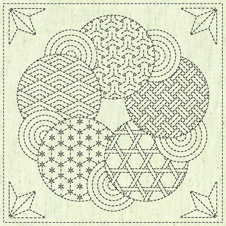 Kaza-Guruma 3 Sashiko Cloth