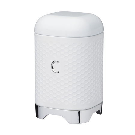 KC Lovello Coffee Canister WHITE