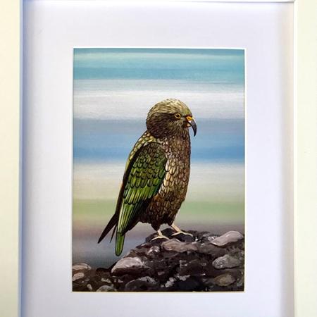 Kea Print in Medium Frame
