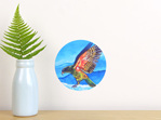 Kea wall decal dot