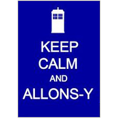 Keep Calm and Allons-Y Fridge Magnet
