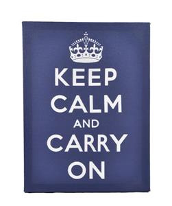 Keep Calm and Carry On - BLUE CANVAS