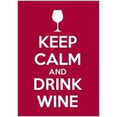 Keep Calm Wine Fridge Magnet