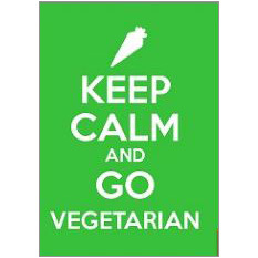 Keep Calm Vegetarian Fridge Magnet