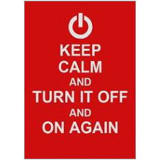Keep Calm Turn Off Fridge Magnet