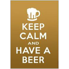 Keep Calm Beer Fridge Magnet