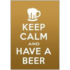 Keep Calm Beer Fridge Magnet