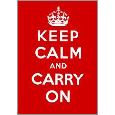 Keep Calm Carry Fridge Magnet