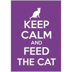 Keep Calm Cat Fridge Magnet