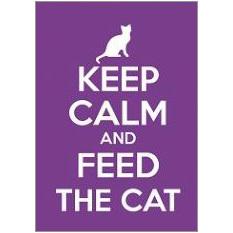 Keep Calm Cat Fridge Magnet