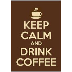 Keep Calm Coffee Fridge Magnet