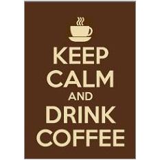 Keep Calm Coffee Fridge Magnet