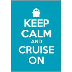 Keep Calm Cruise Fridge Magnet