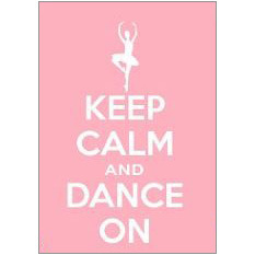Keep Calm Dance Fridge Magnet