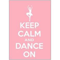 Keep Calm Dance Fridge Magnet