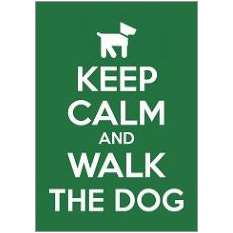 Keep Calm Dog Fridge Magnet