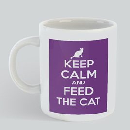 Keep Calm Feed Cat Mug