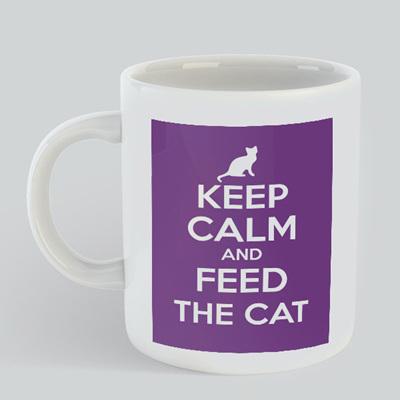 Keep Calm Feed Cat Mug