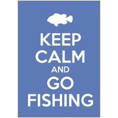 Keep Calm Fishing Fridge Magnet
