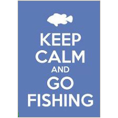 Keep Calm Fishing Fridge Magnet